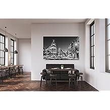 Cuadro PVC Madrid En La Noche | Cuadros Modernos Baratos | Cuadros Decoración | Cuadros Vitage | Cuadros Salón | Cuadros Decoración Salón | Varias Medidas 100x60cm | Fácil colocación | Decoración Habitación | Motivos paisajisticos | Naturaleza | Urbes | Multicolor | Diseño Elegante