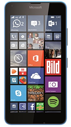 Microsoft Lumia 640 Smartphone (5 Zoll (12,7 cm) Touch-Display, 8 GB Speicher, Windows 10) blau