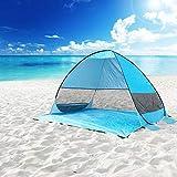 Best Beach Umbrella For Winds - DIOSN Pop Up Beach Tent Automatic Beach Canopy Review