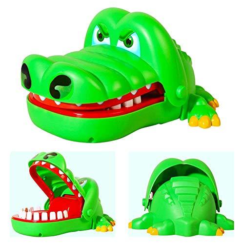 Deanyi Enfants Crocodile Mordre Finger Jeu Amusant Jouets pour Enfants Kid Adulte, Mignon Cadeaux Crocodile Bouche Dentiste Jouet Vert Produits à la Maison
