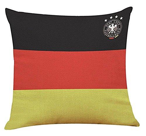 Pavian World Cup Kissenbezüge 32 Länder Nationalflaggen Werfen Kissenbezug Home Kissenbezug Fußball Dekor 2018 Russland Fußball Fans Cheerleading Geschenke (Deutschland) (Land-dekor-shop)