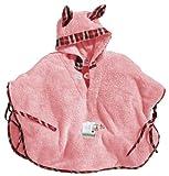 Morgenstern Badeponcho Kleinkinder Microfaser Rosa mit Kapuze und Schaf-Motiv