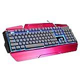L&Y Gaming-Tastaturen Federung Mechanische Tastatur Professionelle Gaming-Tastatur Gaming-Tastatur Fühlen Legierung Beleuchtete Tastatur Bürotastatur Wasser- Und Staubdicht Tastatur USB-Schnittstellen