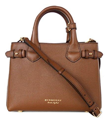 Handtasche Burberry Damen Leder Braun, Check Burberry und Gold 4023702 Braun 12x20x26 cm
