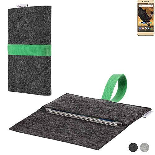 flat.design Handy Hülle Aveiro für Allview P8 Pro passgenaue Filz Tasche Case Sleeve Made in Germany