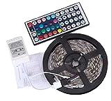 LED Streifen Lichter XXYsm 5M 3528 RGB Farben 300 LED Beleuchtung mit Fernbedienung Dimmen selbstklebend, IP65 Wasserfestes LED Lichterkette Inkl 12V Driver und Eckverbinder