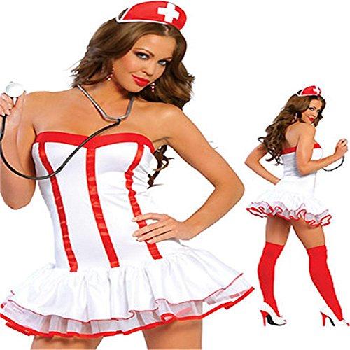HIIH Biancheria Intima Sexy / Gioco Di Ruolo Dell'Infermiera Costumi Vestito / Vestito Gioco