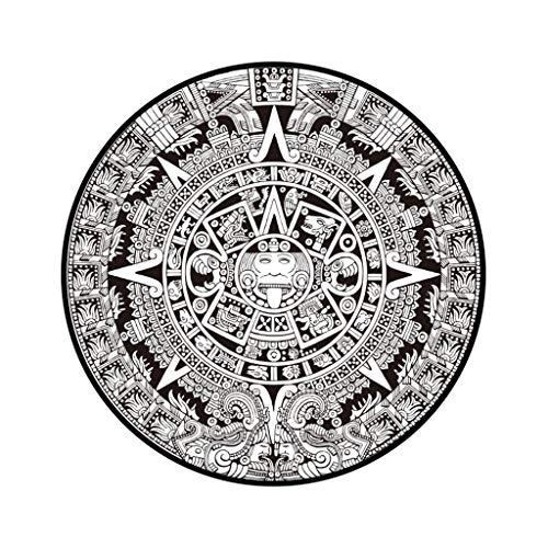 Muium ✿✿✿ 40 cm alfombras Redondas de la Serie Mandala de Flores Europeas para Sala de sillas de computadoras Alfombra dormirtorio✿✿ (D)