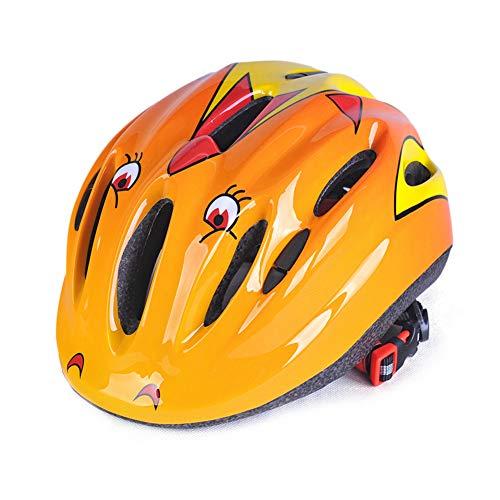 ZXYSHOP Kinder Fahrrad Sicherheit Sturzhelm Kleine Größen für MTB Fahrrad Skateboard Roller Hoverboard Reiten Leichte Einstellbare Atmungsaktiv,Yellow