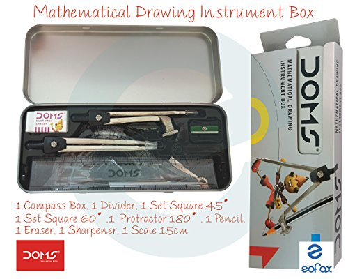 Doms Geometry Mathematical Drawing Instrument Box