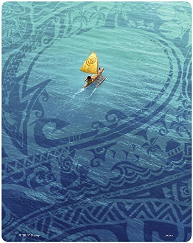 Moana 3D Limited Edition Steelbook / Includes 2D Version / Region Free Blu Ray / U.K. Release.