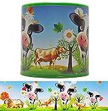 DIE NÄHZWERGE Tierstimmendose Kuh Gloria, grün, 6cm hoch, Kuhstimme | Tierstimme in Dose, Kippstimme mit Tierlaut