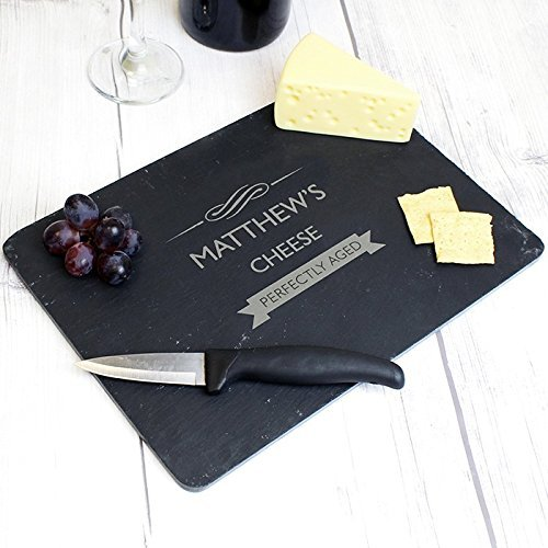 Personalised Perfectly Aged Slate Cheeseboard -...