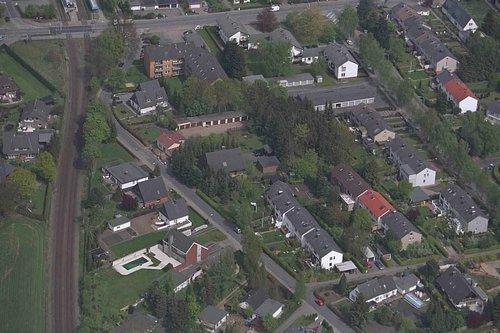 MF Matthias Friedel - Luftbildfotografie Luftbild von Bahnhofstraße in Norderstedt (Segeberg), aufgenommen am 04.05.99 um 12:18 Uhr, Bildnummer: 0592-26, Auflösung: 3000x2000px = 6MP - Fotoabzug 50x75cm