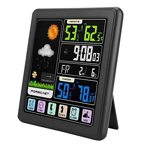 Denash TS-3310 Pantalla táctil táctil inalámbrica Reloj meteorológico multifunciónB