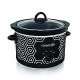 Crockpot SCR450-HX Round Slow Cooker, 4.5 quart, Black & White Pattern