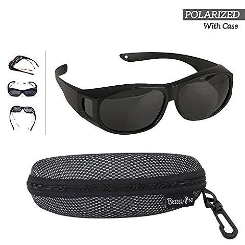 Polarized Wear Over Sunglasses - Cover For Regular Eye Glasses and Prescription Glasses To Reduce (Novità Collezione Sole)