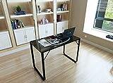 Shinawood Schwarzer Robuster Computer-Schreibtisch-Laptop-PC-Tisch mit den Metallbeinen und dem Kopfhörer-Muster Kleine multifunktionale Spielstudien-Tabelle Chlidren-Raum/Innenministerium