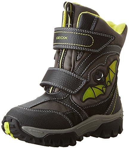 Geox Jr Lt Himalaya B Abx A, Stivali da Neve Bambino, Schwarz (Black/LIMEC0802), 27 EU
