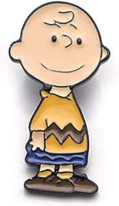 pretty.lovable.mishmash Charlie Brown Pin Peanuts Snoopy Dog Spilla Smaltata Badge