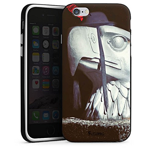 Apple iPhone 5s Housse Étui Protection Coque Robot Statue Aigle Housse en silicone noir / blanc