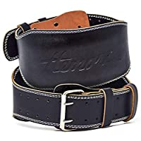 Hemori Genuine Cowhide Leather Pro Weight Lifting Belt for Men and Women | Durable Comfortable & Adjustable with Buckle | Stabilizing Lower Back Support for Weightlifting