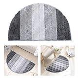 "Decdeal Microfiber Rug Carpet Soft Indoor Bathroom Floor Mat Semi-Elliptical Dining Room Home Bedroom Carpet Anti-Slip Water Absorbent Machine-Washable Carpet (20""*32"" Grey 1 pc.)"