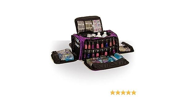 Roo Beauty Trousse Sacs beautcians et Manicurist Maquillage outil sac Maquillage Professionnel au design Glamour/ /Imperial Violet
