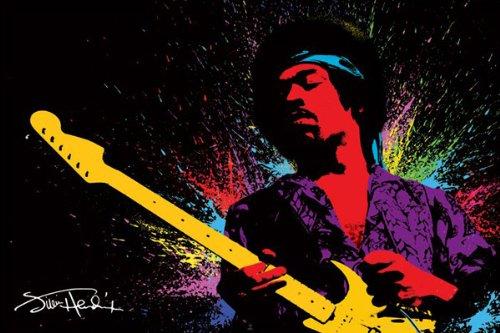Jimi Hendrix ( Paint) Stampa Artistica Poster (91,44 x 60,96 cm)