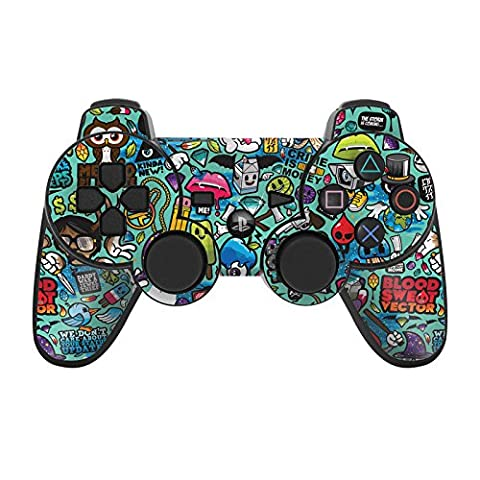Sony Playstation 3 Skin pour manette Film de protection – Design Ensemble d'autocollants Styling pour manette PS3, Jewel