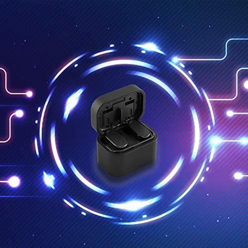 Bluetooth 5.0 drahtlose Ohrhörer, drahtlose Kopfhörer Bluetooth Ohrhörer drahtlose Kopfhörer mit Lade Fall Mini 3D Stereo Sound Binaural für IPhone Samsung Android Telefone (schwarz) - 5