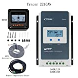 EPever MPPT Solar Charge Controller 20A Tracer2210AN + MT50 Remote Meter +Temperature Sensor