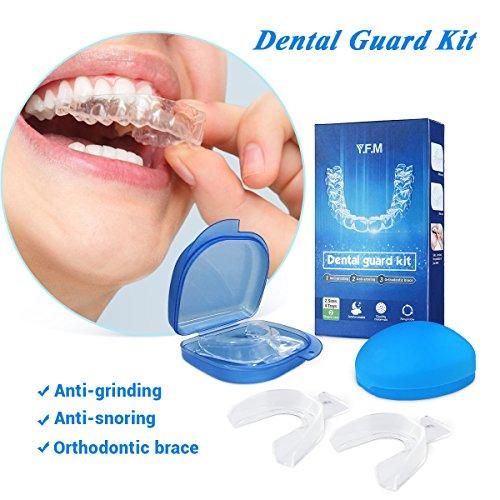 Kit de Protección Dental Y.F.M. Protector Bucal Cuidaodo Dentadura Ferula Dental 2 Pares Bruxismo Rechinar Dientes Imprescindible para Atletas