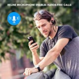 [Verbesserte Version] SoundPEATS Bluetooth Kopfhörer 4.1 Sport In Ear Kabellos AptX 8 Stunden Magnetisch mit Mikrofon Schweißfest geeignet für Jogging Fitness Workout Stereo Ohrhörer für iPhone Samsung und jedes andere Smartphone oder Bluetooth-Gerät ( Schwarz ) - 6