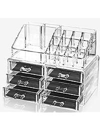 Oxid7® KIRA Aufbewahrungsbox für Make Up und Schmuck | Kosmetik Organizer aus Acryl | Schmuckkästchen | Schubladenbox Schminke  leerzeichen