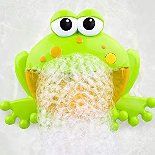 Anano Baby Bath Bubble Machine, Tub Big Frog Automatic Shower Bubble Maker Blower with 12 Music Song Bath Toys for kids