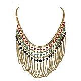 Zephyrr Fashion Golden Beaded Choker Nec...