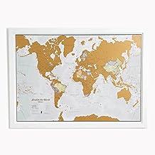 Rasca el Mundo - ¡Rasca los lugares a los que viajes! - detalles cartográficos - 84,1cm (ancho) x 59,4(alto) cm