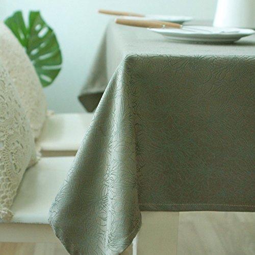 Imperméable nappe Nappe imperméable à la nappe Nappe rectangulaire Tisonnier jacquard (2 couleurs en option) (taille facultative) pour dîner ( Couleur : A , taille : 130*180cm )