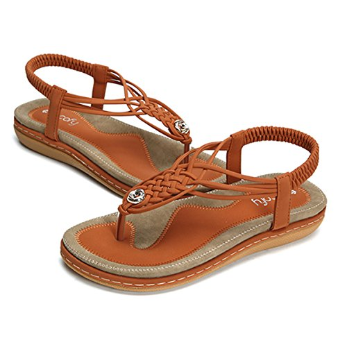 Socofy Sandales Plates Femme, Chaussures de Ville Été à...