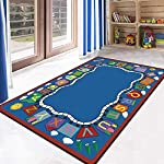 YXZN Kids Game Rugs with Alphabet Living Room Bedroom Bedside Baby Climbing Carpet Washable