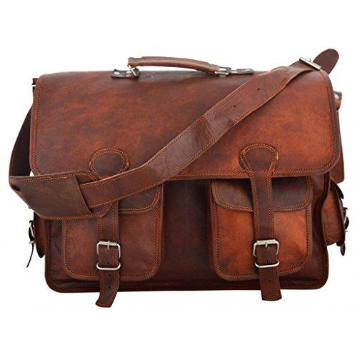 A.P. Donovan - Leder-Umhänge-Tasche - Weekender, auch fürs Büro, die Uni, die Stadt geeignet oder für Kurzreisen, als Handgepäck - für Männer
