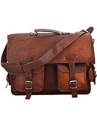 A.P. Donovan - bolso de cuero - también para la oficina, la universidad, la ciudad adecuada para viajes cortos o como equipaje de mano