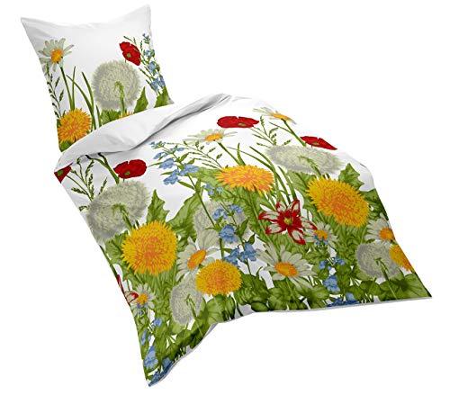 Fleuresse Mako-Satin-Bettwäsche, bunt, 135 x 200 cm