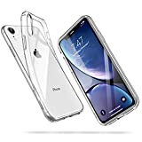 ESR Coque pour iPhone XR, Bumper Housse Etui de Protection Transparent en Silicone TPU Souple [Ultra Fin] [Ultra Léger] pour iPhone XR (2018) 6,1 Pouces (Série Jelly, Transparent)