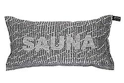 Sauna Pillow Saunatikut Collection by Jokipiin Pellava White/Black