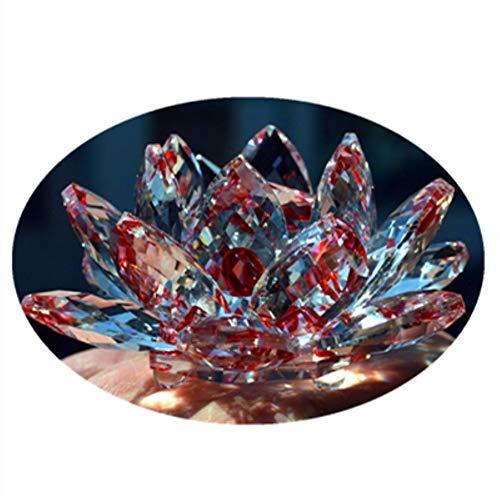 qianyue Cristal de Cuarzo Rojo Cristal de Loto Piedras Naturales y min