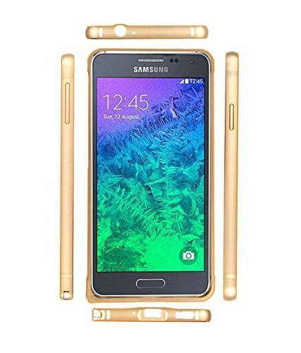 Relax And Shop Dual Tone Circular Arc Metal Bumper Case Cover for Samsung Galaxy Grand 2 /7106/7102 - Gold  available at amazon for Rs.189