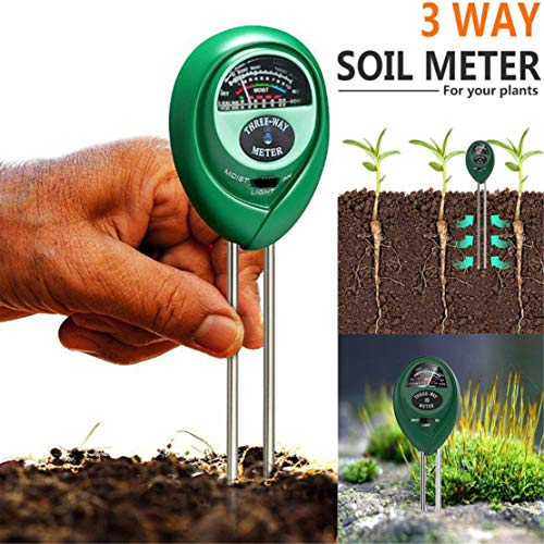 Happy Event 3-in-1 Bodentester Kein Akku Boden Feuchtigkeit Meter PH Wert Messgerät Lichtstärke Meter für Gartenbau, Pflanzen Wachstum, Rasen, Indoor & Outdoor nutzbar