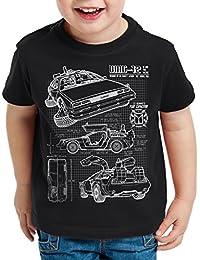 style3 DMC-12 Bleu T-Shirt pour enfants